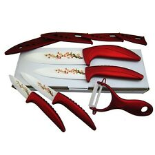 "Beauty Ceramic Knife Set kitchen knives 3"" 4"" 5"" 6"" Peeler + Cover Free-shipping"