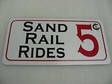SAND RAIL RIDES 5 Cents Sign 4 Quads, ATV Off Road Trucks & Cars Dune Buggy