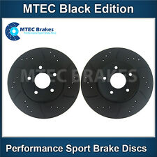 BMW E39 Touring 525i 00-04 Front Brake Discs Drilled Grooved Mtec Black Edition