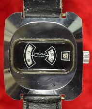 MONTRE À GUICHET mécanique marque MOD 1970 VINTAGE jumping jump hour watch