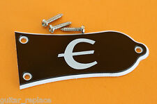 Truss Rod Cover Les Paul Epiphone € Color Negro Cubierta Alma Guitarra 3 Screws
