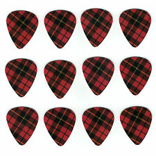 12 Pack GIRLS ROCK RED PLAID PATTERN Medium Gauge 351 Guitar Picks Plectrum