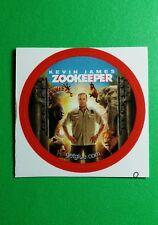 "ZOOKEEPER KEVIN JAMES MOVIE PHOTO SMALL 1.5"" GET GLUE GETGLUE STICKER"