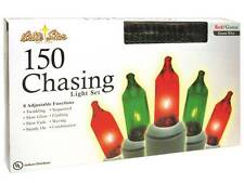 NEW 150 ct Red & Green Mini Christmas Lights 8 Function Chasing Set Controller