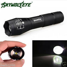 4000LM 5 Modes CREE XM-L T6 LED Flashlight Focus Torch Lamp Light Zoomable 18650