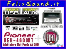 PIONEER / FIAT DEH-4700BT  SINTO/CD/MP3/USB/BT + AUX + kit Panda 2004 2011