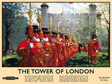 NEW THE TOWER OF LONDON METAL WALL KITCHEN SIGN PLAQUE CAFE DINER BAR