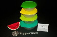 Tupperware 4 Wonderlier Serving Bowls 3 6 8 12 cups ~Freezer ~Fridge ~NEW Seals