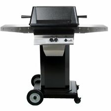 PGS A40 Cast Aluminum Natural Gas Grill on Black Portable Pedestal Base