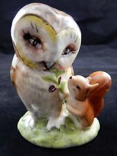 Beatrix Potter Old Mr Brown w/BP2 Beswick Gold Oval   RARE