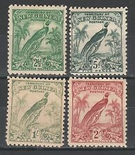 NEW GUINEA 1932 UNDATED BIRD RANGE TO 2/-