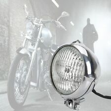 Motorcycle LED Headlight Lamp for Harley Bobber Chopper Softail Springer Silvery