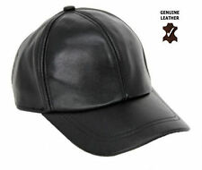 MEN'S GENUINE 100%LAMBSKIN ADJUSTABLE SPORTY NAPPA LEATHER BASEBALL GOLF CAP HAT