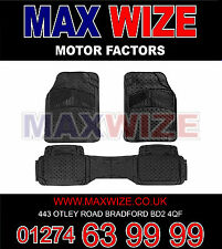 VW PASSAT S20 V (96-01) TOP QUALITY 3 PIECE RUBBER TAXI MATS BLACK