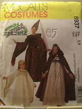 Girl McCall UNCUT Pattern 8937 Costumes Princess Medieval Gown Cape Size 5 - 6
