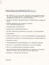 SCOUT II 4x4 Technische Beschreibung Technik und Preisliste 1975 +++++++++++++++