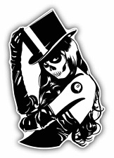 "Sugar Skull Tattoo Girl Car Bumper Sticker Decal 4"" x 5"""