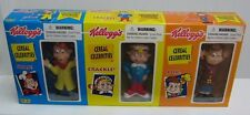 1998 Kelloggs Snap Crackle Pop Vinyl Figures Complete Set Mint In Box