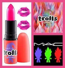 NEW AUTHENTIC MAC COSMETICS LIMITED EDITION TROLLS DANCE OFF PANTS OFF LIPSTICK