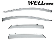 For 17-Up Cadilac XT5 WellVisors Side Window Visors Deflectors W/ Chrome Trim