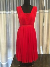 Monique Lhuillier $495 Red Dress In Size 4 - Small ! Worn Once ! EUC !