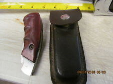 Fury #10024  Wooden Handle Folding Knife with Sheath **Pistol Type Grip**