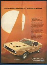 Vintage 1972 Ford Mustang Mach I  magazine ad