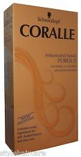 Schwarzkopf Coralle Permanent Wave Curl Curly Perm Cream Porous Bleached Hair
