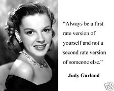 """Judy Garland The Wizard of Oz """"always be a first"""" Quote 8 x 10 Photo Picture #d1"""