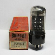 6U4GT  BRIMAR  New old stock - tested OK  on an AVO valve tester
