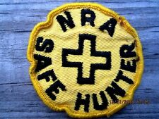 """NRA Safe Hunter Boy Scout Patches 3"""" Gold/Gold Trim"""