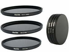 Haida ND Graufilterset ND8x, ND64x, ND1000x, - 58mm inkl. Stack Cap