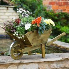 XL Wheel Barrow Planter Garden Floral Display Feature Flowers Outdoor Wooden