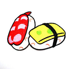 Sushi Japanese Famous Food Cute Gift Kids DIY Bag Jeans Shirt Cap Iron on patch