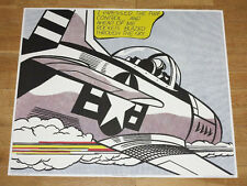 "ROY LICHTENSTEIN POSTER "" WHAAM ! "" LEFT-HAND PANEL POP ART PLAKAT in MINT"