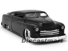 JADA 1:24 1951 MERCURY NEW DIECAST MODEL CAR BLACK W/ CUSTOM TIRES