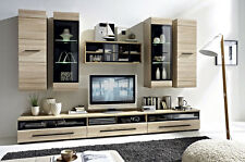 MODERN Living Room Furniture FEVER 1 Set LED wall units TV cabinets Sonoma Oak