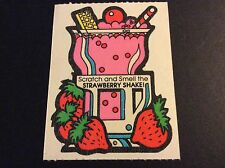 Vintage 80s Mello Smello Scratch and Sniff Stickers Mod RARE - Strawberry Shake