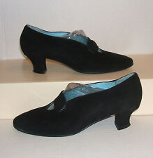 THIERRY RABOTIN Womens Italian Black Suede Mary Jane Dress Loafer Pumps 39 / 8.5
