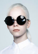 Karen Walker Von Trapp Sunglasses Black Round Oversized SOLD OUT $210