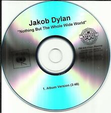 The Wallflowers JAKOB DYLAN Nothing But the PROMO DJ CD single Whole Wide