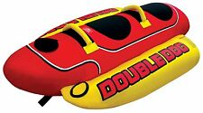 AIRHEAD HD-2 Hot Dog Double Rider Towable Inflatable Boat Lake Tube 1-2 Per