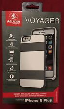 Authentic Pelican White/Gray Voyager Case and Holster - iPhone 6 Plus/ 6s Plus