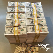 PROP MONEY New Style $100s $1,000,000 Filler stacks For Movie, Videos, tv