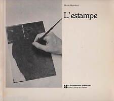 L'ESTAMPE NICOLE MALENFANT 1979 EAU-FORTE LITHOGRAPHIE TAILLE-DOUCE TECHNIQUES