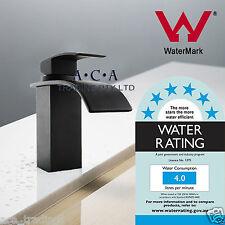 ACA Matt BLACK Square Waterfall Spout Kitchen Basin Sink Vanity Mixer Tap Faucet