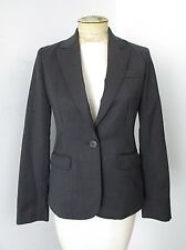J Crew Charcoal Gray Lightweight Worsted Wool Classic Schoolboy Blazer Jacket 2