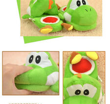 Nintendo Super Mario Brothers Yoshi Adult Plush Slipper One Pair green NEW AU
