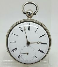 Antique solid silver gents fusee George Hallam london pocket watch 1836