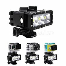 Waterproof LED Flash Light For GoPro Hero 1/2/3/3+/4 Xiaoyi SJCAM Dual Battery